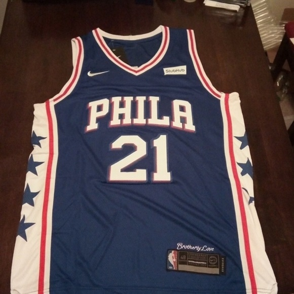 new style bd8cd 580df NWT Joel Embiid Philadelphia Sixers Jersey NWT